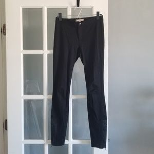 Banana Republic Leggings with Leather Ankle Zip